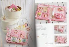 How cute is this little sewing case? From the book Happiness Flower Color Quilt - a Japanese craft book