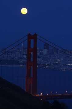 The Super Moon over the Golden Gate Bridge; May 2012