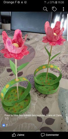 """Moederdag: Knutselwerkje """"Bloem"""" Easy Fall Crafts, Easy Paper Crafts, Easter Crafts For Kids, Craft Activities For Kids, Spring Crafts, Preschool Crafts, Diy And Crafts, Paper Flower Decor, Flower Crafts"""