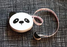 Panda bear measuring tape via How About Orange Panda Love, Red Panda, Panda Bear, Sewing Box, Sewing Tools, Panda Lindo, Panda's Dream, Cool Office Supplies, Kawaii
