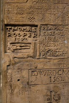 Graffiti in a cell in the haunted Tower of London