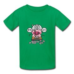 Cartoon Pig Kelly Green 7600b T-shirt For Kid Printing-Funny Clothing SAVE up to 80% off,Create custom T-shirts at a fantastic price, no minimum quantity. 100% Satisfaction Guaranteed.