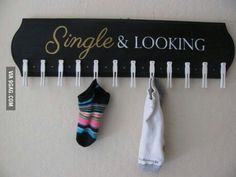 A place to hang up lonely socks until you find their pair.