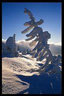 Winter landscape of the Giant Mountains (Krkonose), Czech Republic
