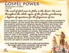 Gospel Power - Second Sunday of Advent