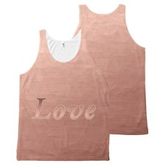 Modern Rose Gold Polygon Love All-Over-Print Tank Top