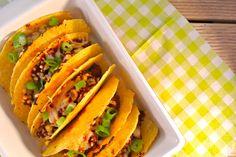 pittige taco's uit de oven