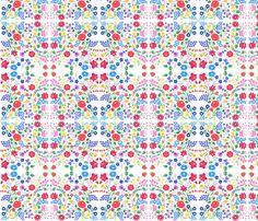 hungarian folk floral fabric by kimbergay on Spoonflower - custom fabric