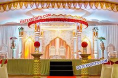 #Royal #look #Rajasthani #wedding #fiber #mandap #Dstexports