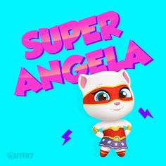 What superpowers would you want to have? xo, Talking Angela #TomGoldRun #TalkingAngela #MyTalkingAngela #LittleKitties #app #game #update
