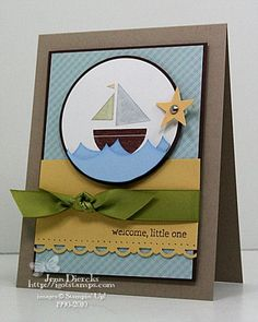 Welcome Sweet Pea - Boy by Jenn D - Cards and Paper Crafts at Splitcoaststampers