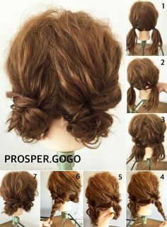 hair styles hairstyle how to bayalage to curl your hair hair hair hair Work Hairstyles, Pretty Hairstyles, Wedding Hairstyles, Two Buns Hairstyle, Short Hair Hairstyles Easy, Dreadlock Hairstyles, Short Curly Hair Updo, Hairstyle Ideas, Braid Hairstyles