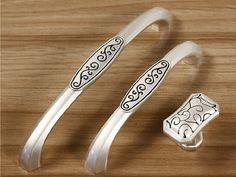 Dresser Knobs Pulls Drawer Pull Handles / Silver by ARoseRambling, $4.50