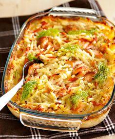 Kirjolohi-kasviskiusaus | Maku Fish Recipes, Seafood Recipes, Cooking Recipes, I Love Food, Good Food, Yummy Food, Tasty, Easy Healthy Recipes, Easy Meals