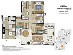 Apartment Plans, Ground Floor Plan, Floor Plans, Flooring, Decoration, Luxury Apartments, Bedrooms, Towers, Architecture