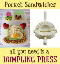 dumpling press to make pocket sandwiches
