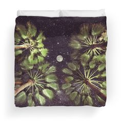 Available as T-Shirts & Hoodies, Stickers, iPhone Cases, Samsung Galaxy Cases, Posters, Home Decors, Tote Bags, Pouches, Prints, Cards, Scarves, iPad Cases, Laptop Skins, and Laptop Sleeves #duvetcover #duvet #blanket #bed #bedroom #palmtrees #space #stars #moon #photography #design #perspective #nature #homedecor #home #decor #dorm #bed
