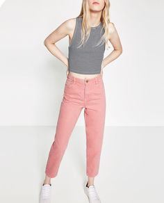MOM-FIT TROUSERS-View all-JEANS-WOMAN | ZARA United States