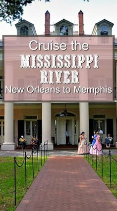 River Cruise from New Orleans to Memphis First stop on a New Orleans to Memphis Mississippi river cruise is usually at Oak Alley Plantation.First stop on a New Orleans to Memphis Mississippi river cruise is usually at Oak Alley Plantation. Mississippi River Cruise, Mississippi Queen, Mississippi Chicken, Mississippi Roast, Rio, New Orleans Louisiana, Plantation, United States Travel, Travel Usa