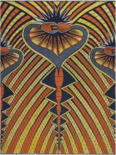 Vlisco, Funky Grooves, VL043225.06 - 100% cotton Dutch wax block print 70.37 for 6 yards