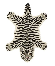 Small Snowy Tiger Rug The Snowy Tiger rug from Doing Goods is a vibrant, hand-tufted piece for your home. Tiger Rug, Decoupage, Cat Bedroom, Tiger Skin, Bear Rug, Crochet Rug Patterns, Crochet Elephant, Custom Cushions, Nursery Rugs