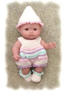 Ravelry: Egg-licent Romper for 5 Inch Berenguer Baby Doll pattern by Amy Carrico