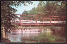 Indiana, Kokomo - Highland Park Foot Bridge & Falls