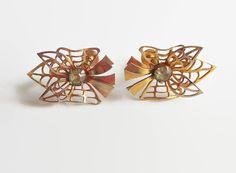 Rhinestone Earrings Bugbee & Niles Signed Vintage by baublology #vogueteam #bugbeenilesjewelry
