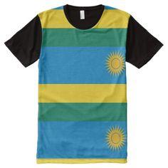 Shop Rwanda, flag All-Over-Print T-Shirt created by AwesomeFlags. Rwanda Flag, Stylish Shirts, National Flag, Flags, Shirt Style, Kids Outfits, Shirt Designs, Mens Tops, T Shirt