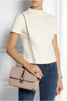 Valentino Garavani Lock Medium Leather Shoulder Bag - Blush Valentino skH7XqPIr