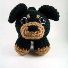 Crocheted Rottweiler Pdf Pattern Digital Download