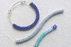 Formas de suéter japonés - Wooly Ventures Beaded Wrap Bracelets, Seed Bead Bracelets, Beaded Earrings, Stretch Bracelets, Hoop Earrings, Rope Necklace, Beaded Jewelry Patterns, Bracelet Patterns, Beading Patterns