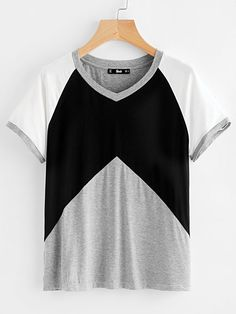 Shop Heather Knit Raglan Sleeve Cut And Sew Tee online. SheIn offers Heather Knit Raglan Sleeve Cut And Sew Tee & more to fit your fashionable needs.