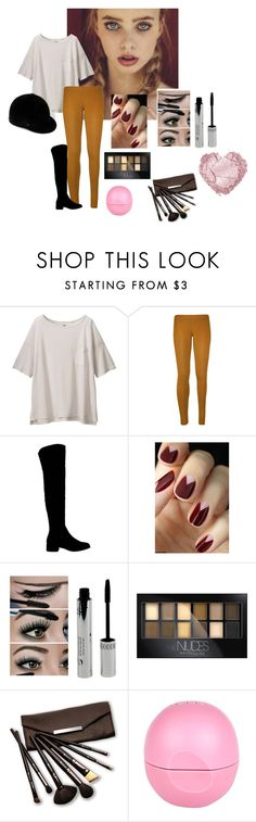 """MONTARIA"" by luhpayne-948 on Polyvore featuring Uniqlo, WearAll, Office, Maybelline, Borghese and River Island"
