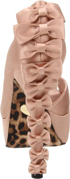 Betsey Johnson Women's Sammmii Pump - nude blush color and bow details all over the heel. Gorgeous! Can't believe it's just $38.99