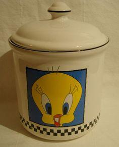 Tweety Bird Cookie Jar made in Taiwan by Certified International