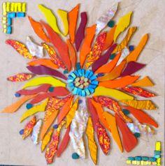 Mosaic art by kat gottke         #mosaic #flowers #art