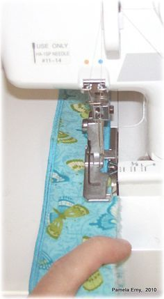 Perfect Serged Rolled Edges...A Quick Tip.  Other very good sewing tutorials on this site.