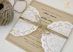 lacey wedding invitations