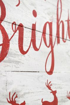 Closeup of Merry and Bright Christmas Sign