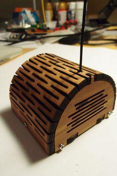 Laser cut enclosure with living hinge lid