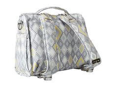 Ju-Ju-Be B.F.F. Versatile Messenger and Backpack Diaper Bag with Insulated Bottle Pockets and (6) Zippered Pockets Silver Ice - Zappos.com F...