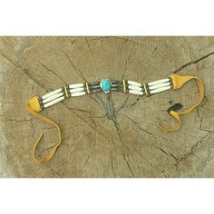 Tribal Turquoise Choker Amazing tribal choker necklace bought on the streets of New Mexico. Real Turquoise, real bone, sterling silver  and animal hide. Any music festival lovers out there? This is picture perfect Coachella, right? Jewelry