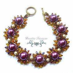 Daisy Chain Bracelet with Super Duo Beads by CreativeTreasuresUK, £18.00