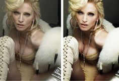 14 Of The Most Airbrushed Celebrity Pics (See the Before and Afters) / StyleBlazer