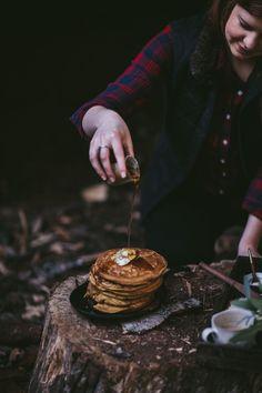 Pumpkin Ricotta Pancakes by Eva Kosmas Flores | Adventures in Cooking