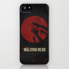 The Walking Dead Poster 01 iPhone Case by Misery - $35.00