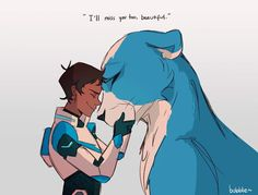 I'll Miss You too, Beautiful- Lance and his realistic Blue Lion from Voltron Legendary Defender