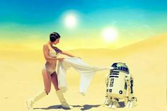 Princess Leia & R2-D2 - Star Wars