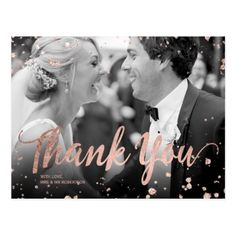 Wedding Countdown Faux rose gold elegant confetti wedding thank you postcard - Shop Faux rose gold elegant confetti wedding thank you postcard created by girly_trend. Personalize it with photos Gold Wedding Invitations, Wedding Programs, Wedding Venues, Wedding Script, Wedding Gold, Elegant Wedding, Wedding Party Songs, Wedding Ideas, Wedding Inspiration